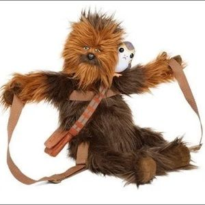 Star Wars Chewbacca with Porg Beak Backpack Fuzzy